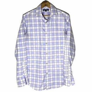 B-Rep Lavender Plaid Button Up Grant Fit Size S